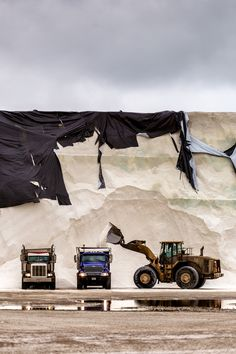 A salt mountain! #CatMachines perform in a variety of environments.