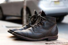 Fashion Men's Shoes. Aged Viberg Boots. #menfashion #menshoes [http://www.pinterest.com/alfredchong/]