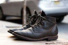Fashion Men's Shoes. Aged Viberg Boots. #menfashion #menshoes [http://www.pinterest.com/alfredchong/]