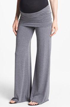 Maternal America Knit Flare Leg Maternity Pants | Nordstrom