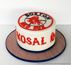 Boston Red Sox Cake by Sugar Sweet Cakes Treats (Angela Tran) Fab Cakes, Sweet Cakes, Birthday Cakes For Men, 21st Birthday, Birthday Ideas, Birthday Parties, Red Sox Cake, Cake Cover, Cake Tutorial