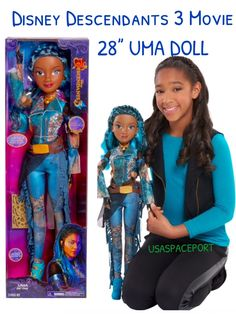 See pictures The Descendants, Disney Descendants Dolls, Disney Princess Dolls, Disney Dolls, American Girl Doll Movies, Baby Dolls For Kids, Frozen Dolls, China Anne Mcclain, Mini Doll House