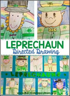 Leprechaun Directed Drawing Add some fun to your St. Patrick& Day activities with this amazing Leprechaun Directed Drawing. This multi-step drawing can be done in small grou. St Patrick Day Activities, Spring Activities, Art Activities, Halloween Activities, Senior Activities, Christmas Activities, Physical Activities, Drawing For Kids, Art For Kids