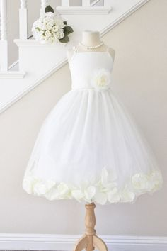 Hey, I found this really awesome Etsy listing at https://www.etsy.com/listing/230205339/flower-girl-dresses-petal-ivory-custom