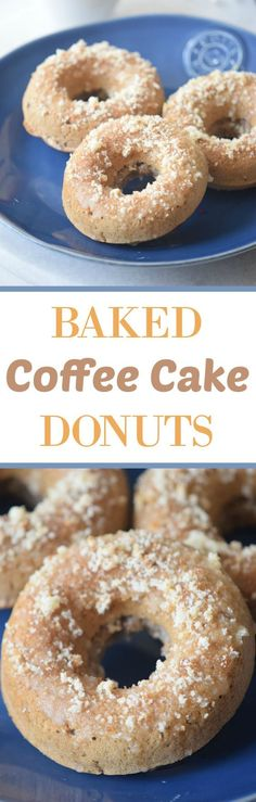 Baked Coffee Cake Donuts with crumb toppings ready in less than 30 minutes.