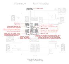 88162 04011 blind spot radar for 2015 2016 toyota tacoma fuses rh pinterest com  2011 toyota tacoma fuse box diagram