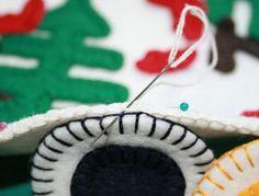 Бореальных лесов - DIY Kit Пенни ковер, Канадиана наследия, Гудзонов залив цвета и мотивы животных - шерсть чувствовал ремесло комплект