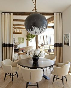 space trenner ideas curtain dining room