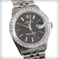 Original Rolex Oyster Perpetual Date Staineles Steel Vintage Genuine Man Watch 1.80 Carat Diamonds | Your #1 Source for Jewelry and Accessories