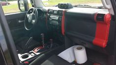 FJ red Interior plasti dip.