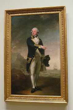 NYC - Metropolitan Museum of Art: Gilbert Stuart's Captain John Gell ... ( I like having this opportunity to see a painting whole and then in the frame.)