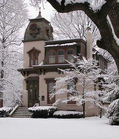 Benton House. A Second Empire style house in Indy's Irvington neighborhood.