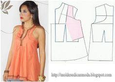 Moldes Moda por Medida: TRANSFORMAÇÃO DE BLUSAS blouse and top refashions upcycle