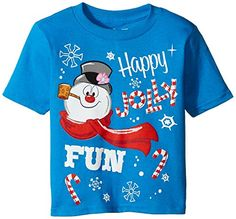 CLife Group Little Boys Toddler Short Sleeve Frosty The Snowman Holiday Shirt Turquoise 4T >>> Be sure to check out this awesome product.Note:It is affiliate link to Amazon.