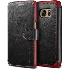 Galaxy Edge Case, VRS Design [Layered Dandy][Coffee Brown] - [Premium Leather Wallet][Slim Fit] For Samsung Edge Galaxy S7, Galaxy Note 7, Samsung Galaxy, Slim Leather Wallet, Leather Phone Case, Pu Leather, Dandy Style, S7 Edge, Walmart