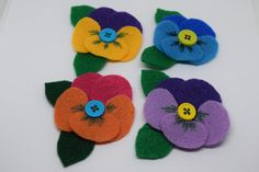 Felt Pansy Accessory Spring Special: 2 for Felt Ornaments, Christmas Ornaments, Fun Days Out, Occasion Wear, Felt Flowers, Pansies, Family Pictures, Baby Headbands, Hand Stitching