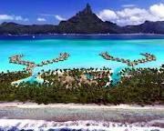 Bora Bora - ilha do grupo das Ilhas de Sotavento do arquipélago de Sociedade na Polinésia Francesa, um território ultramarino francês localizado no Oceano Pacífico.