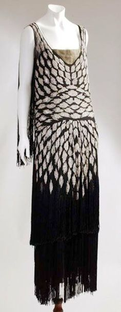 Chanel dress - 1928 - Design by Gabrielle 'Coco' Chanel - Museum at the Fashion Institute of Technology