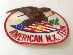 American M.X. Team Patch American Eagle Flag Red White Blue