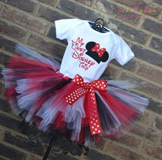 My First Disney Trip Miss Mouse Tutu Outfit by TickleMyTutu, $49.95