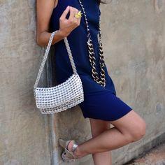 I LOVE THIS....ring pull bag...Image of Bossa Handbag - Champagne