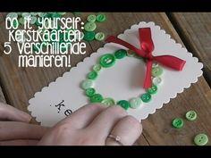 DIY kerstkaarten maken! - YouTube