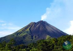 Arenal Volcano | La Fortuna, Costa Rica. Arenal Volcano is an active volcano located in the northwest of Costa Rica. This huge and epic volcano measures at least 5,300 ft (over 1.600meters).
