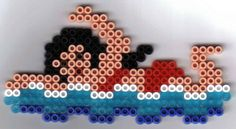 swimming hama perler beads by vlokje