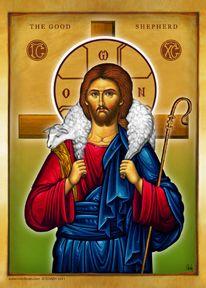 Jesus as the Good shepherd