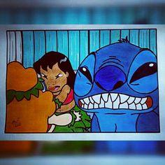 Lilo e Stitch  Disney Desenho Drawing  Insta: icarodn27