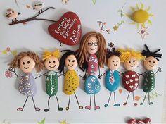öğretmenler günü hediyesi sevimli taş tablolar sahaneeller@instagram
