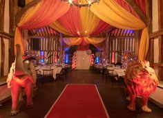 Big top effect created with draping