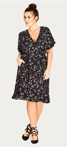 Plus Size Floral Dress - Plus Size Fashion for Women
