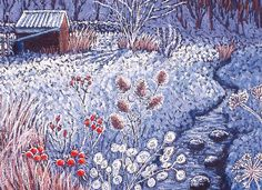 'Winter Delight' By Painter Cath Read. Blank Art Cards By Green Pebble. www.greenpebble.co.uk