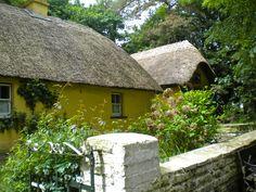 Cottages at Bunratty Castle Folk Park, Co Claire, Ireland