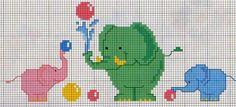 **Blog Amor Perfeito** Gráficos de ponto cruz: Elefantes