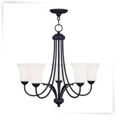 Livex Ridgedale 6475-04 5-Light Chandelier in Black