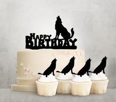 Happy Birthday Wolf Howling Laser Cut Acrylic Cake Toppers for Party Wedding Birthday Decorations Happy Birthday Wolf, Wild One Birthday Party, 10th Birthday Parties, 14th Birthday, Thomas Birthday, Engagement Party Decorations, Birthday Party Decorations, Birthday Ideas, Birthday Signs