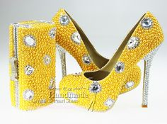 yellow diaomond shoes | -Shoes-bridal-shoes-with-crystals-diamond-beaded-high-quality-yellow ...