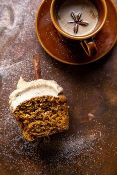 Brown Sugar Frosting, Sweet Bourbon, Cupcake Cream, Vanilla Chai, Sweet Cupcakes, Half Baked Harvest, Pumpkin Spice Latte, Cupcake Cakes, Cinnamon