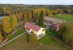 Marjoniemi Farm offers accommodation in an idyllic country setting in an old vicarage, a farmhands' cottage or granary. Army Tent, Plan Front, Alvar Aalto, Rustic Cottage, Trip Planning, Exotic, Country, Rural Area, Country Music
