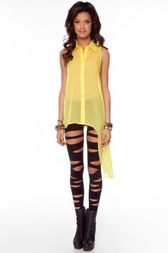 Lean With It Button Down Shirt in Yellow $29 at www.tobi.com