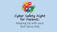 """Kids Safety Exploring School Counseling: Keeping Up with Your Tech Savvy Kids for parents - I recently presented a """"Cyber Safety Night"""" at my school in an evening session for parents. We offered babysitting, snacks and provided a. Counseling Office, Elementary School Counseling, School Counselor, Parenting Workshop, Parenting Plan, Parenting Articles, Parenting Styles, Foster Parenting, Parenting Teens"""