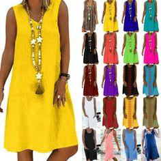 Sommerkleid Blumenkleid Kurzarm Kleid Strandkleid 40 42 44 Sand Bunt NEU Italien