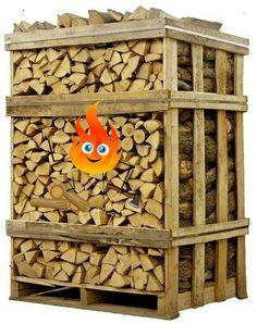 Easypallet droog eikenhout gratis geleverd in heel Nederland en gelijk stookbaar haardhout #openhaardhout
