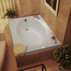 Charming Atlantis Vogue 60 X 42 White Soaker Tub (Vogue 60 X 42 Soaker Tub White)