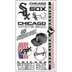Chicago White Sox Temporary Tattoo Collection