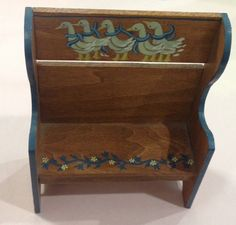 Wood Miniature Hand Painted Duck Bench Dollhouse Furniture - SALE  | eBay