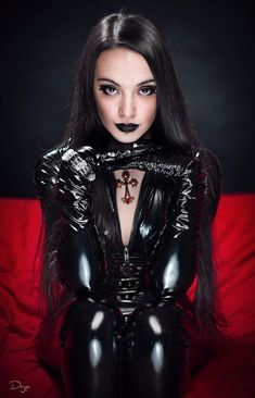Pieces of, Me., Dark miss, by Dryp Magus - Gothic - Punk Latex Fashion, Dark Fashion, Gothic Fashion, Sexy Latex, Goth Beauty, Dark Beauty, Chica Dark, Gothic Mode, Goth Women