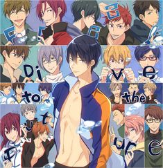 : Dive to the Future - In the new series, Haruka, who is attending college in Tokyo, meets Asahi again and reawakens his memories from his middle school years, including those of Ikuya. Makoto is working toward a new dream while he is in Momotarou Mikoshiba, Makoharu, Rin Matsuoka, Makoto Tachibana, Rei Ryugazaki, Swimming Anime, Free Eternal Summer, Free Iwatobi Swim Club, Free Anime
